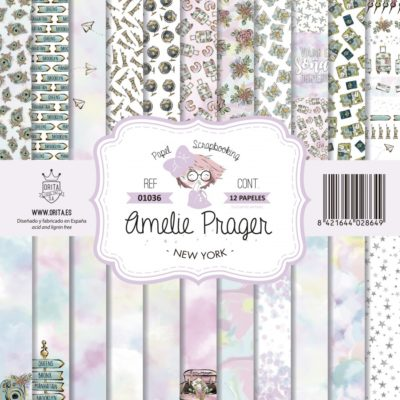 Set 12 papeles scrapbooking new york - Amelie Orita
