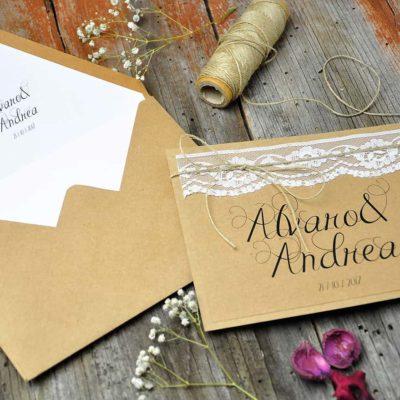 Invitación de boda vintage - enjoy de las pequeñas cosas