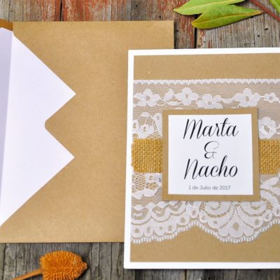 Invitación de boda vintage - mi media orange