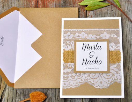 Invitación de boda vintage - mi media orange