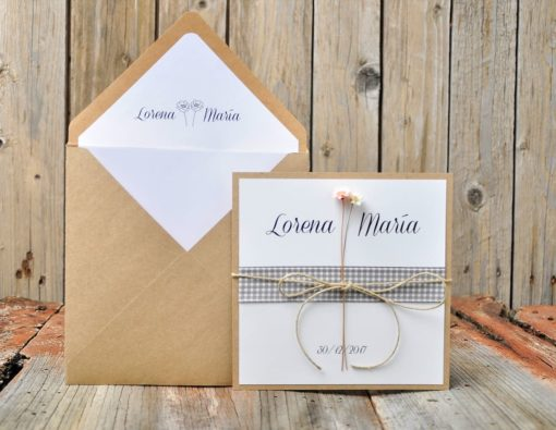 Invitación de boda natural - my other half
