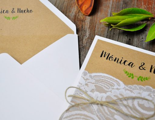 Invitación de boda vintage - my perfect part