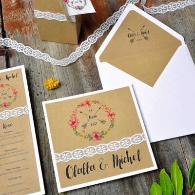 Invitación de boda vintage - nuestra wedding cool