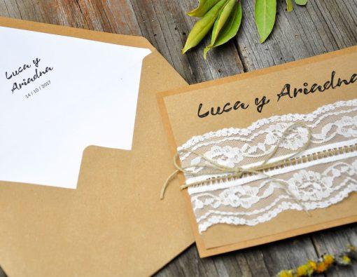 Invitación de boda vintage - quiéreme so much