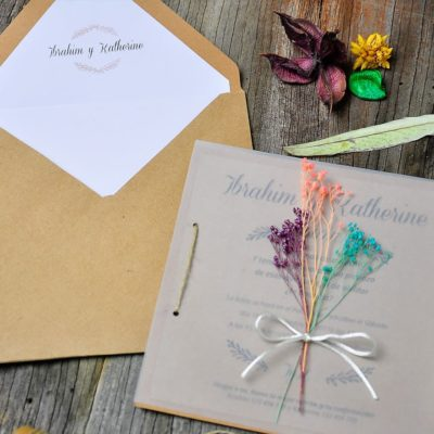 Invitación de boda natural - somos memories