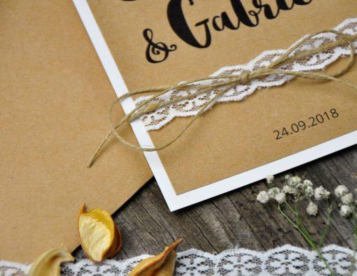 Invitación de boda natural - tu eres my world
