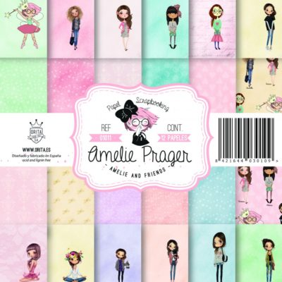 """Amelie and Friends"" Set 12 papeles scrapbooking – Amelie Orita"