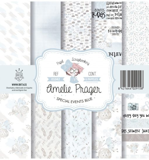 Special Events Blue Set 6 papeles scrapbooking – Amelie Orita-2