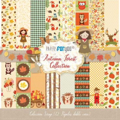 Autumn Forest Set 12 papeles scrapbooking – Papers for you1