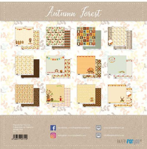 Autumn Forest Set 12 papeles scrapbooking – Papers for you2