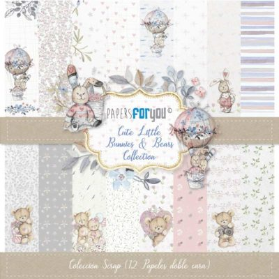 Cute little bunnies & Bears Set 12 papeles scrapbooking – Papers for you