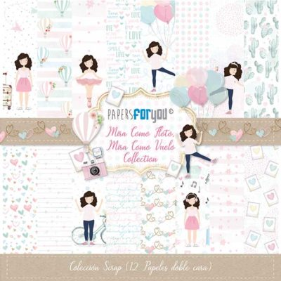 Mira como floto, mira como vuelo Set 12 papeles scrapbooking – Papers for you