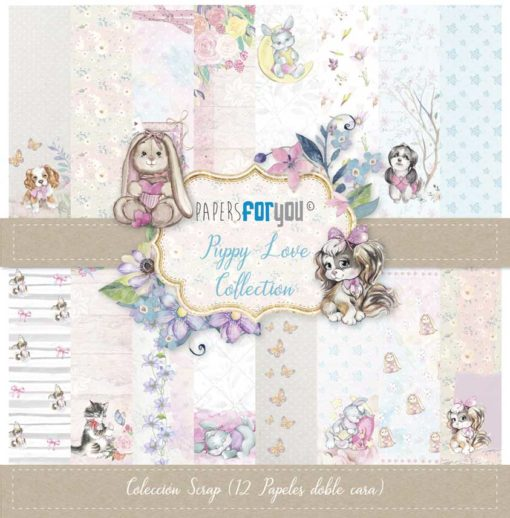 Puppy Love Set 12 papeles scrapbooking – Papers for you