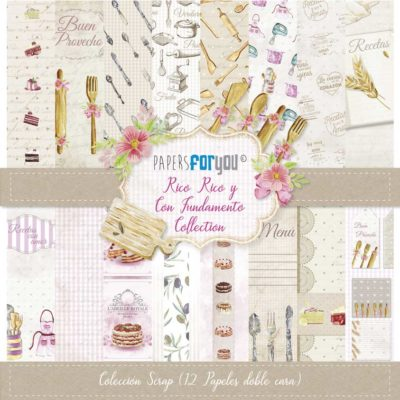 Rico rico y con fundamento Set 12 papeles scrapbooking – Papers for you
