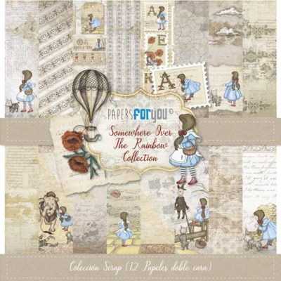 """Somewhere over the rainbow"" Set 12 papeles scrapbooking – Papers for you"