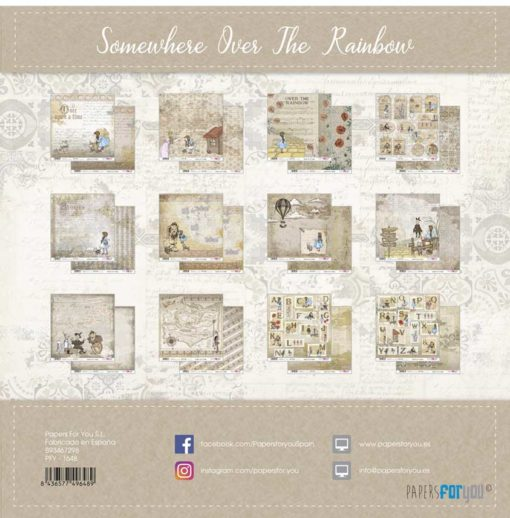 Somewhere over the rainbow Set 12 papeles scrapbooking – Papers for you2