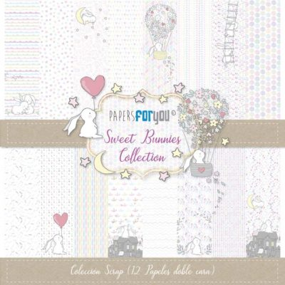 Sweet Bunnies Set 12 papeles scrapbooking – Papers for you