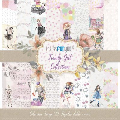 Trendy Girl Set 12 papeles scrapbooking – Papers for you2