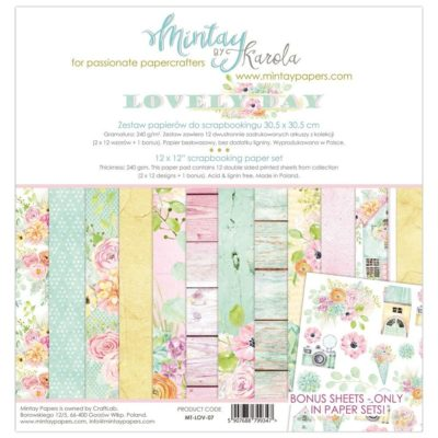 Lovely Day Set 24 papeles scrapbooking – Mintay by Karola