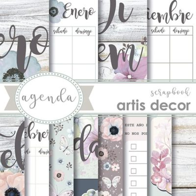 agenda papel scrapbooking artis decor