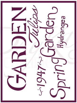Plantilla de Stencil – Garden - 21x30cm – Dayka
