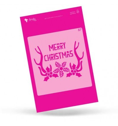 Plantilla de Stencil – Merry Christmas – Amelie Orita
