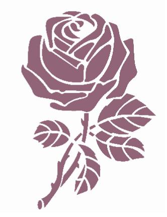 Plantilla de Stencil – Rosa - 21x30cm – Dayka