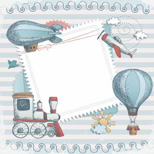 Baby blue trip - Papel sublimación - 30x30 cm - Artis Decor