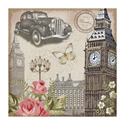 Romantic London - Papel sublimación - 30x30 cm - Artis Decor