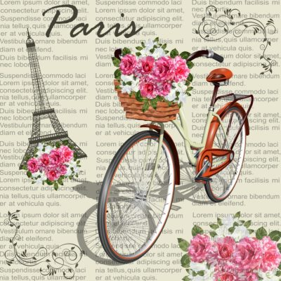Romantic Paris - Papel sublimación - 30x30 cm - Artis Decor