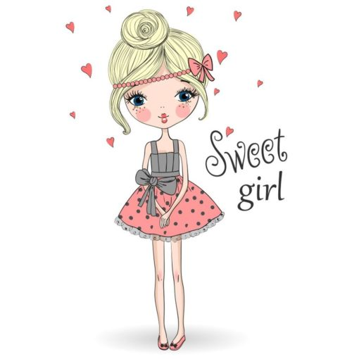 Sweet girl - Papel sublimación - 30x30 cm - Artis Decor