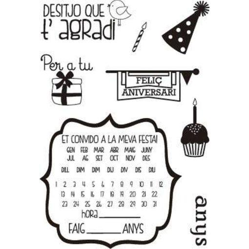 Sellos Feliç aniversari - Tamaño A6 - Artis Decor