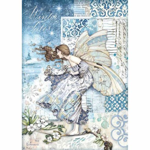 Fairy in the wind - Papel de arroz A4 - Stamperia
