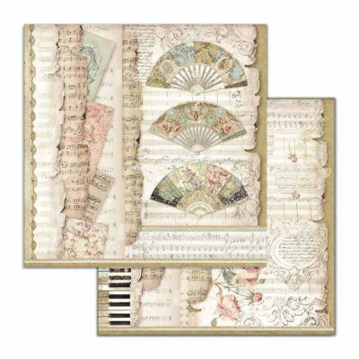 Fans and Music Papel de scrapbooking - Stamperia