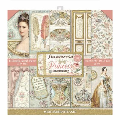 Princess Set 10 papeles scrapbooking - Stamperia