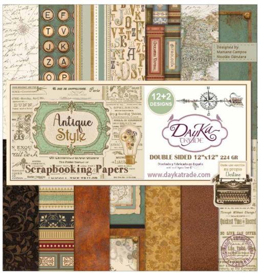 Block de Scrapbooking - Antique Style - Dayka trade