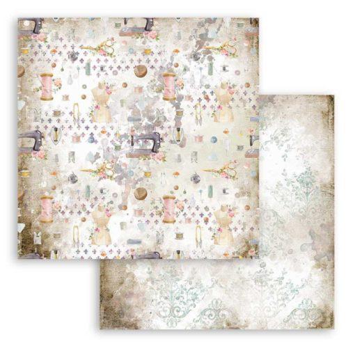"""Romantic Threads texture"" Papel de scrapbooking - Stamperia"